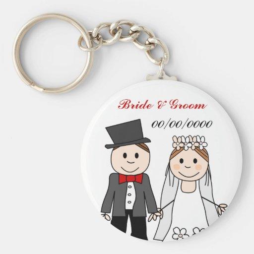 favores do casamento chaveiros