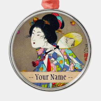 Favoritos de Nobukazu Yosai do amor bonito das Ornamento Redondo Cor Prata