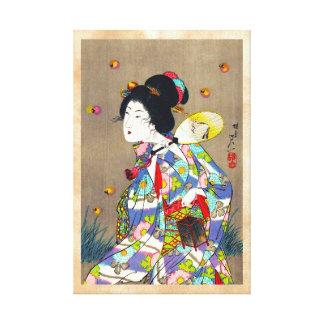 Favoritos de Nobukazu Yosai do amor bonito das sen Impressão De Canvas Envolvida