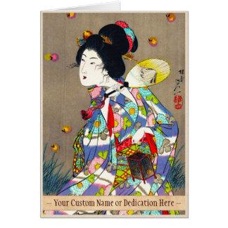 Favoritos de Nobukazu Yosai do amor bonito das sen Cartão De Nota