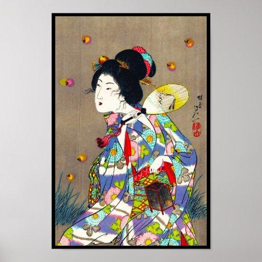 Favoritos de Nobukazu Yosai do amor bonito das sen Posters