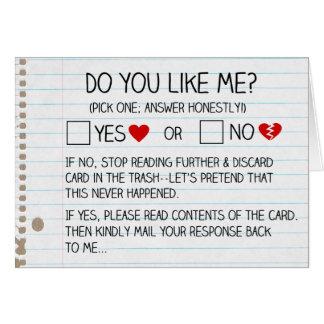 Fazem você gostam de me? Cartões