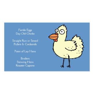 Fazenda de galinha - pintinhos, frangas, grelhas & cartão de visita