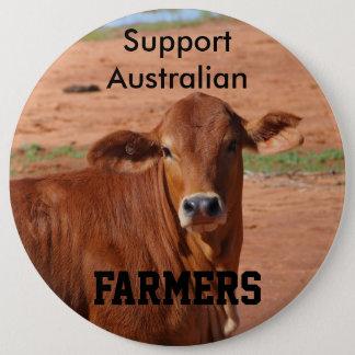 Fazendeiros do australiano do apoio bóton redondo 15.24cm