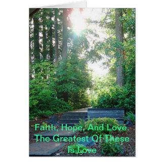 Fé, esperança, e cartão do amor
