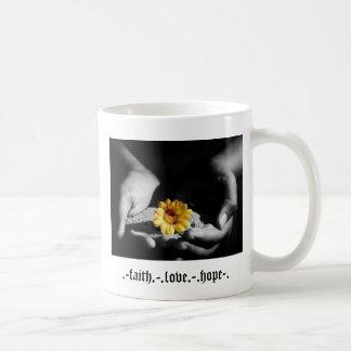 . - fé. - .love. - .hope-. caneca de café