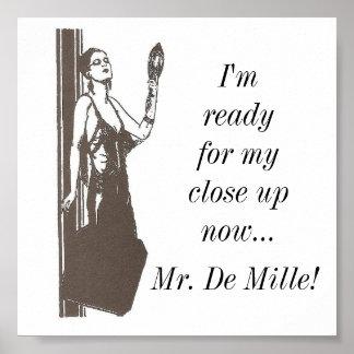 Feche acima, Sr. De Mille!: Poster clássico das ci