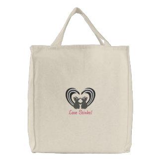 Fedores do amor bolsas bordadas