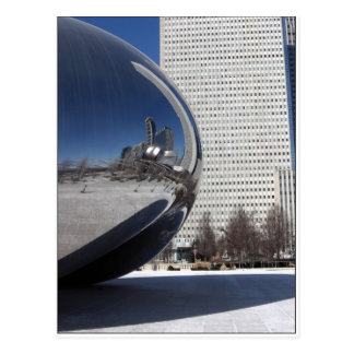 Feijão e Skyscaper de Chicago Cartão Postal