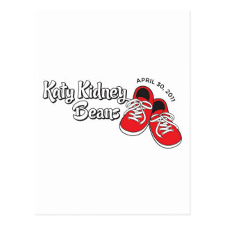 Feijão vermelho de Katy Cartão Postal