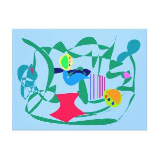 Feijões Impressão De Canvas Envolvida