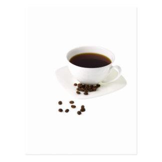 Feijões de café e café cartão postal