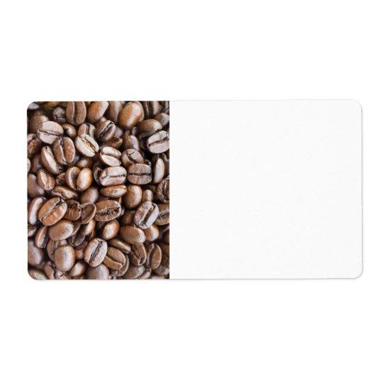 Feijões de café etiqueta de frete