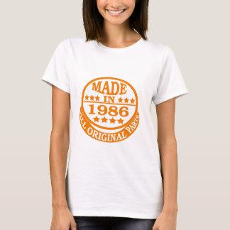 Feito em 1986 todas as peças do original t-shirts