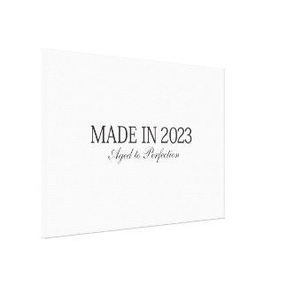 Feito em 2023 impressão de canvas envolvidas