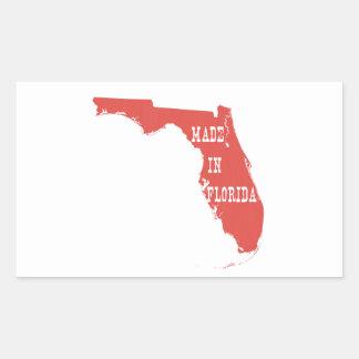 Feito em Florida Adesivo Retangular