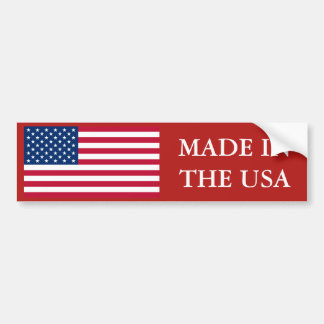 Feito na bandeira dos EUA E.U. Adesivo Para Carro