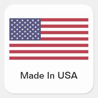 Feito nos EUA Adesivo Quadrado