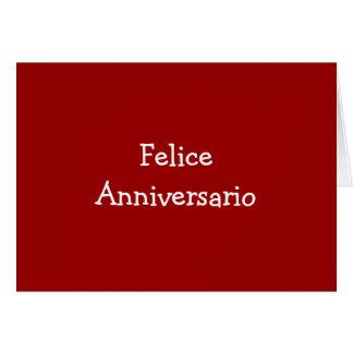 FELICE ANIVERSARIO-ANNIVERSARY CARTÃO