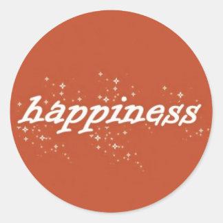 Felicidade na laranja adesivo