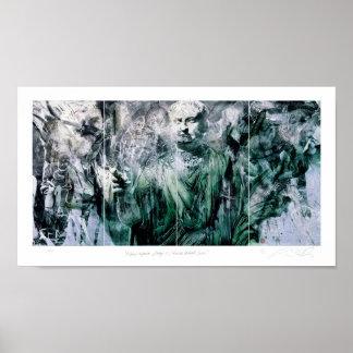 Felicior Augustus/ó palco/série romana do retrato Poster