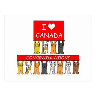 Felicitações canadenses da cidadania cartão postal