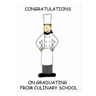 Felicitações culinárias da graduação da escola cartão postal