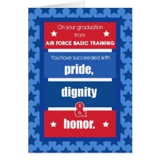 Felicitações da graduação da formação básica da cartão comemorativo