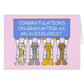 Felicitações da graduação do Audiologist Cartão Comemorativo