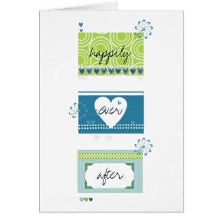 Felicitações do casamento cartão comemorativo