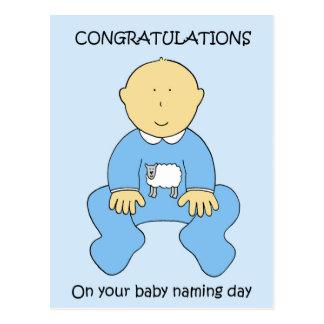 Felicitações do dia de nomeação do bebé cartão postal