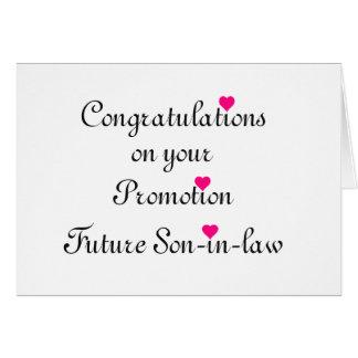Felicitações em seu genro do futuro da promoção cartão comemorativo