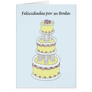 Felicitações espanholas do casamento cartão comemorativo