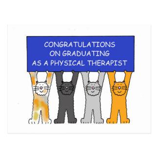 Felicitações graduadas do fisioterapeuta cartão postal