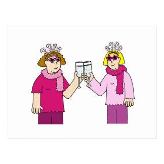 Felicitações lésbicas cartão postal