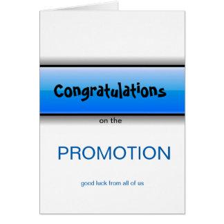 Felicitações na boa sorte da promoção de tudo cartão comemorativo