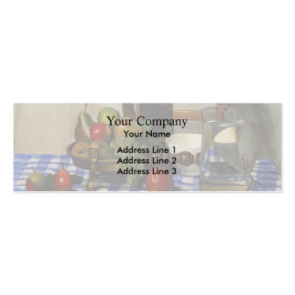 Felix Vallotton - ainda vida com Tablecloth azul Cartões De Visita
