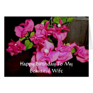 Feliz aniversario a meu cartão bonito da esposa