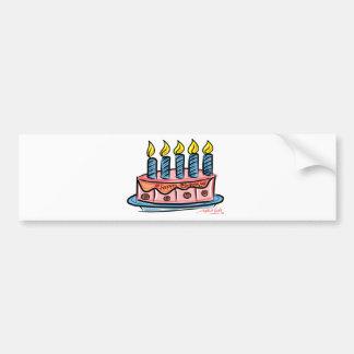 Feliz aniversario adesivo para carro