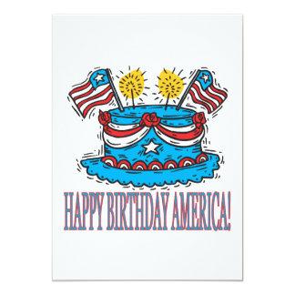 Feliz aniversario América Convite 12.7 X 17.78cm