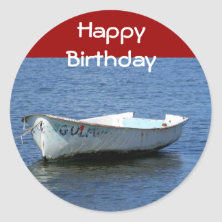 Feliz aniversario, barco adesivo
