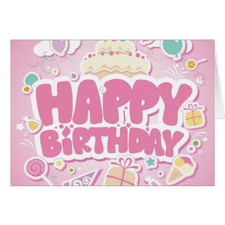 feliz aniversario bonito cartão comemorativo