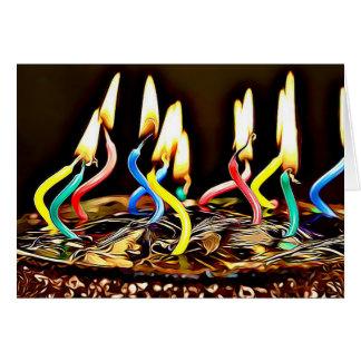 Feliz aniversário cartões da vela do aniversário