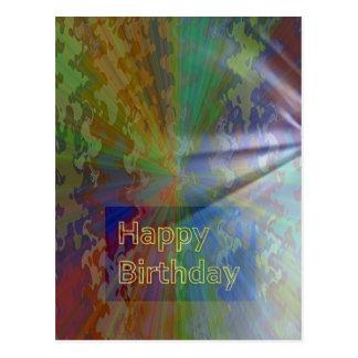 Feliz aniversario coleção do março de 2012 cartão postal