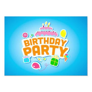 feliz aniversario convite 12.7 x 17.78cm