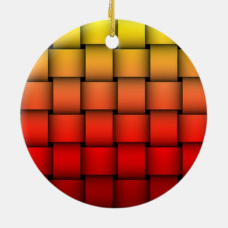 Feliz aniversario da xadrez do fogo ornamento de cerâmica redondo