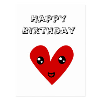 Feliz aniversario de meu coração feliz cartão postal