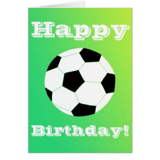 Feliz aniversario do futebol cartão comemorativo