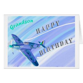 Feliz aniversario do neto…! cartão comemorativo