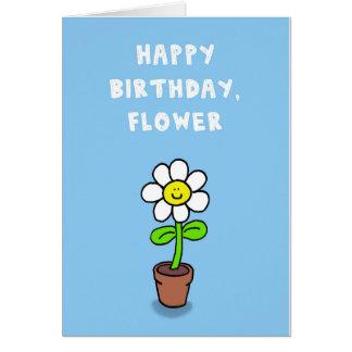 Feliz aniversario, flor cartão